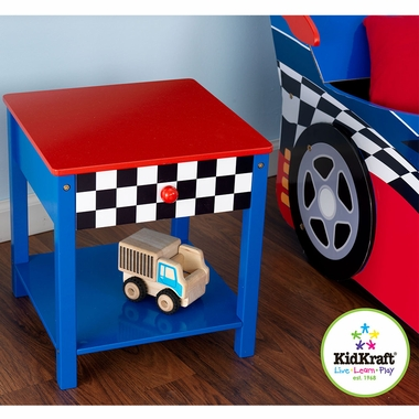 Racecar Side Table with Drawer by KidKraft