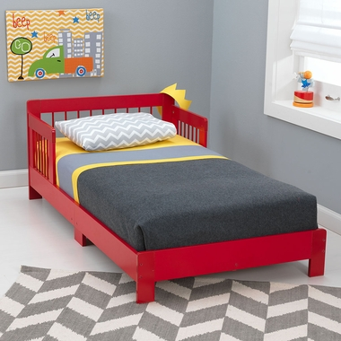 Red Houston Convertible Toddler Bed by KidKraft - Click to enlarge