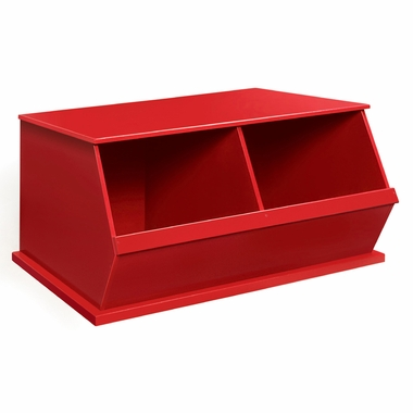 Red Two Bin Storage Cubby by Badger Basket - Click to enlarge