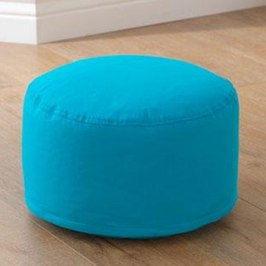 Kidkraft Round Pouf in Turquoise - Click to enlarge