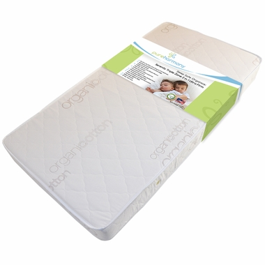 Sleep Safe Serenity Organic Triple Zone 2 in 1 Ultra Firm Crib Mattress by Pure Harmony