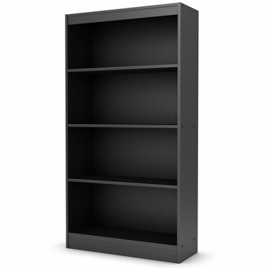 Solid Black Axess 4 Shelf Bookcase by SouthShore - Click to enlarge