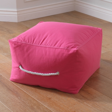 Kidkraft Square Pouf in Red - Click to enlarge