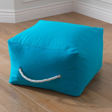 Kidkraft Square Pouf in Turquoise - Click to enlarge