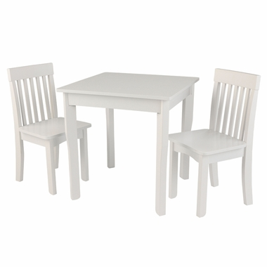 Kidkraft Square Table and  2 Avalon Chairs Set in White - Click to enlarge