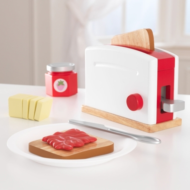 Kidkraft Toaster Set in Red & White - Click to enlarge