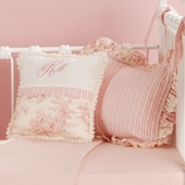Toile Pink Bedding Collection