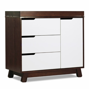 Two Tone Espresso and White Hudson Changer Dresser by Babyletto - Click to enlarge