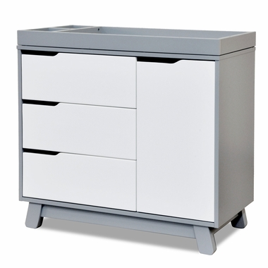Two Tone Grey and White Hudson Changer Dresser by Babyletto - Click to enlarge