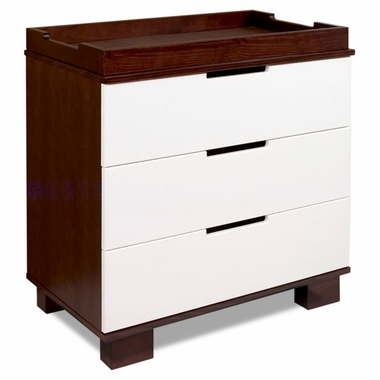 Two-Tone Mercer Two-Tone 3 Drawer Dresser/Changer by Babyletto - Click to enlarge