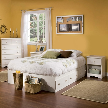 4 Piece Bedroom Set Summer Breeze Twin Mates Bed Headboard Double Dresser And 5 Drawer Chest Summer Breeze In Chocolate 3219080 3219098 3219027 3219035 By South Shore Bedroom Sets At Simplykidsfurniture