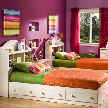Vanilla Cream Summer Breeze Country Mates Bed Box by SouthShore
