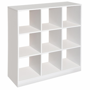 White 3x3 Storage Unit (coordinates with Folding Nursery Baskets) by Badger Basket - Click to enlarge