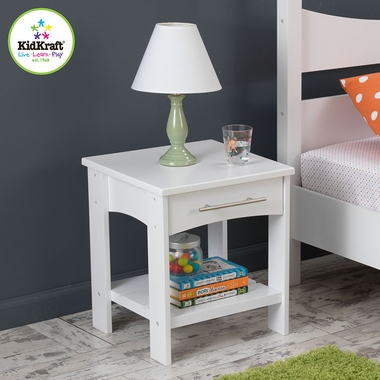 White Addison Twin Side Table with Shelf by KidKraft - Click to enlarge