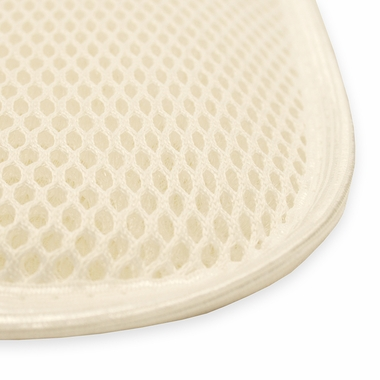 White Airflow Flat Crib Topper by Naturepedic