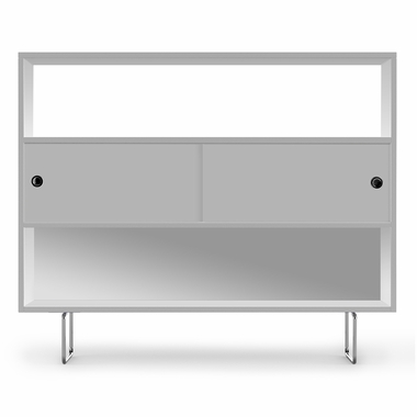 White Alto Bookshelf with White Panels by Spot On Square - Click to enlarge