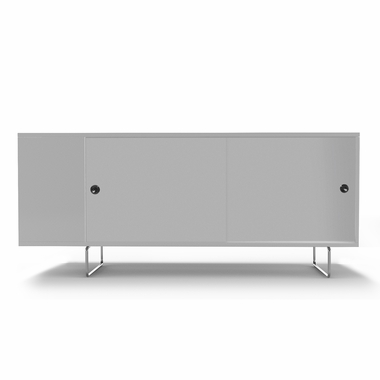 White Alto Credenza with Sliding White Panels by Spot On Square - Click to enlarge