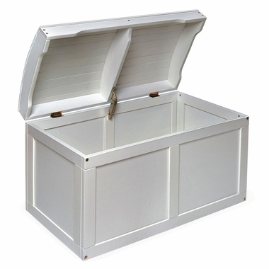 White Barrel Top Toy Chest by Badger Basket - Click to enlarge