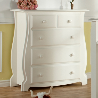 White Bergamo 4-Drawer Dresser by Pali - Click to enlarge