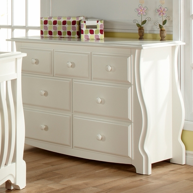 White Bergamo Double Dresser by Pali - Click to enlarge