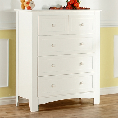 White Bolzano 5 Drawer Dresser by Pali - Click to enlarge