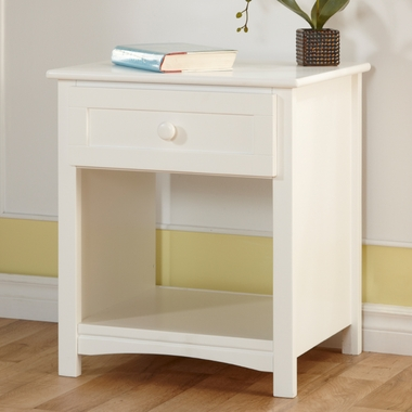 White Bolzano Nightstand by Pali - Click to enlarge