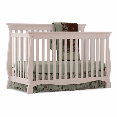 Storkcraft Carrara 4 in 1 Fixed Side Convertible Crib in White - Click to enlarge