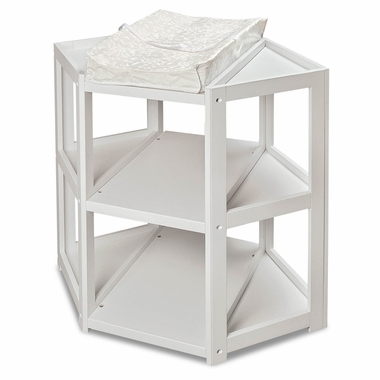 White Diaper Corner Changing Table by Badger Basket - Click to enlarge