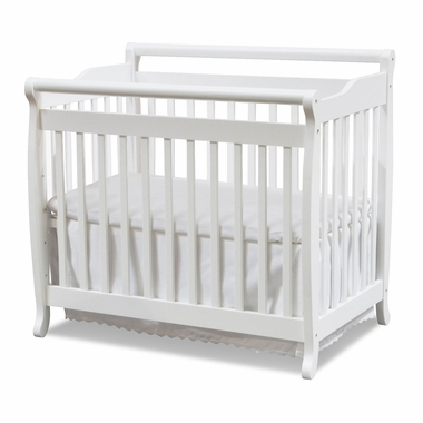 White Emily Mini 2 in 1 Convertible Sleigh Crib by DaVinci - Click to enlarge