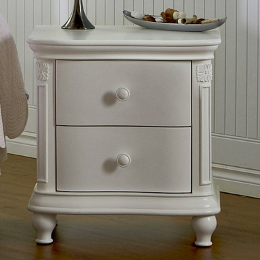 White Gardena Nightstand by Pali - Click to enlarge
