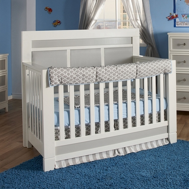 Cortina Forever Crib In White Grey 1500 By Pali Baby Cribs At Simplykidsfurniture