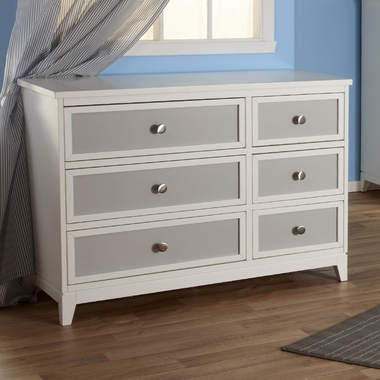 White/Grey Treviso Two Tone Double Dresser by Pali - Click to enlarge