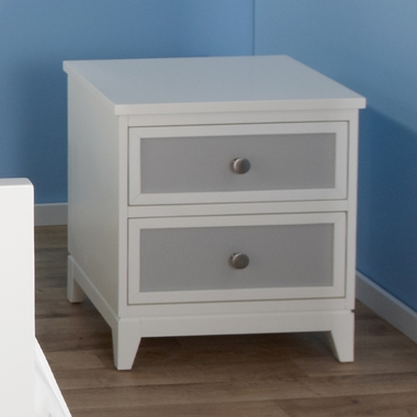White/Grey Treviso Two Tone Nightstand by Pali - Click to enlarge