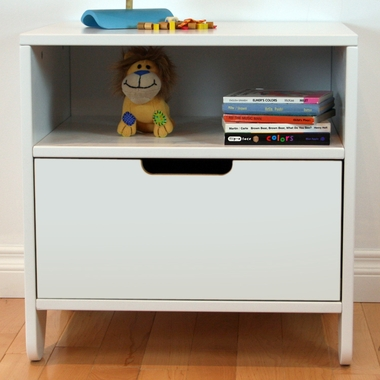 White Hiya Nightstand by Spot On Square - Click to enlarge