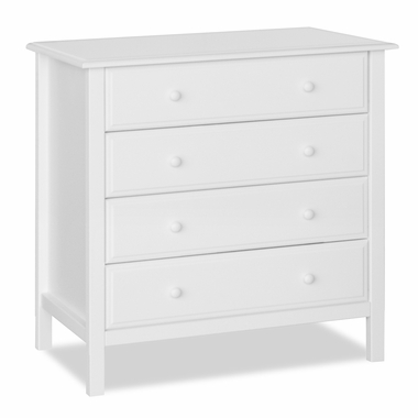 White Jayden 4 Drawer Dresser by DaVinci - Click to enlarge