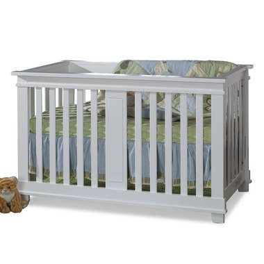 White Lucca Convertible Crib by Pali - Click to enlarge