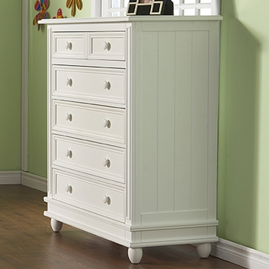 White Marina 5 Drawer Dresser by Pali - Click to enlarge