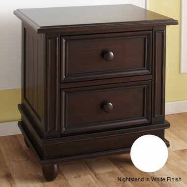 White Marina Nightstand by Pali - Click to enlarge