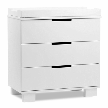 White Modo 3 Drawer Dresser by Babyletto - Click to enlarge