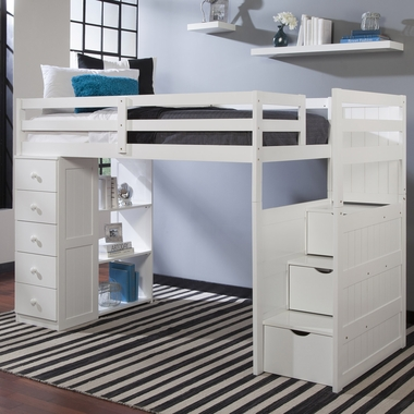 Mountaineer Twin Loft Bed With Storage Tower And Built In