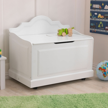 White Raleigh Contemporary Toy Box by KidKraft - Click to enlarge