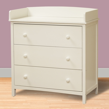 White Simple 3 Drawer Dresser by SB2 - Click to enlarge