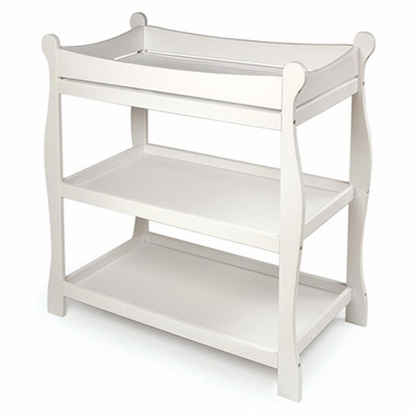 White Sleigh Changing Table by Badger Basket - Click to enlarge