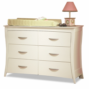 White Trieste Double Dresser by Pali - Click to enlarge