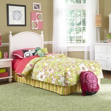 White Twin Size Bedroom In A Box By Powell Furniture