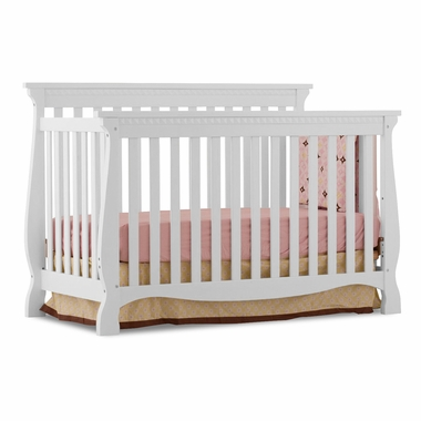 Storkcraft Venetian 4 in 1 Fixed Side Convertible Crib in White - Click to enlarge