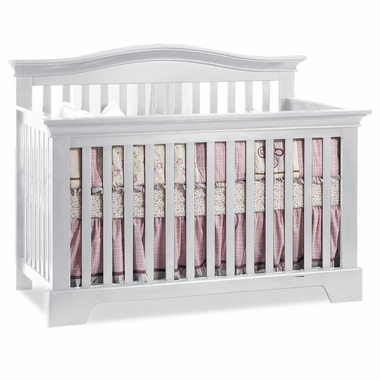 White Volterra 4 in 1 Convertible Forever Crib by Pali