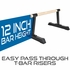 Wood Bar Parallettes 12 x 24 Inch