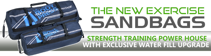 The New Exercise Sandbags with Water Fill Upgrade Option