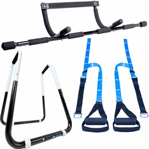 Power Tower Dip Station, Pull Up Bar & Bodyweight Resistance Trainer Package Deal